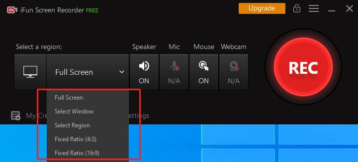 说明: Capture Screen on Windows 10
