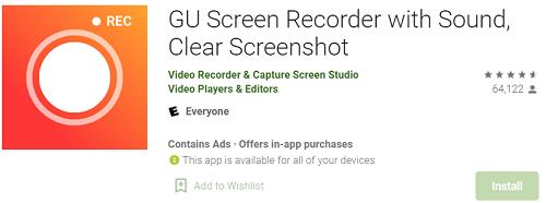 Gu-screen recorder