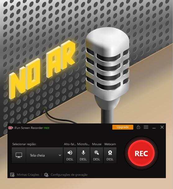 Gravação de um Podcast - Passo 3