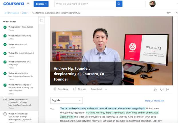 Om een online lezing op Coursera op te nemen