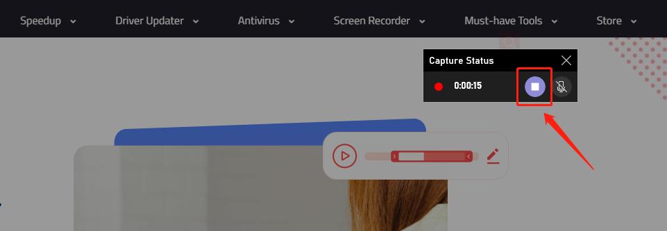 Wbudowane narzędzie do zatrzymania nagrywania