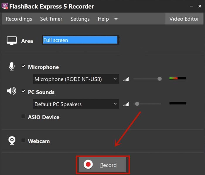 miglior-screen-recorder-di-giochi-flashback-express