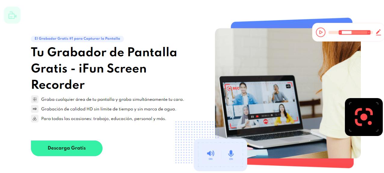 Grabar audio de YouTube con iFun Screen Recorder - Paso 1