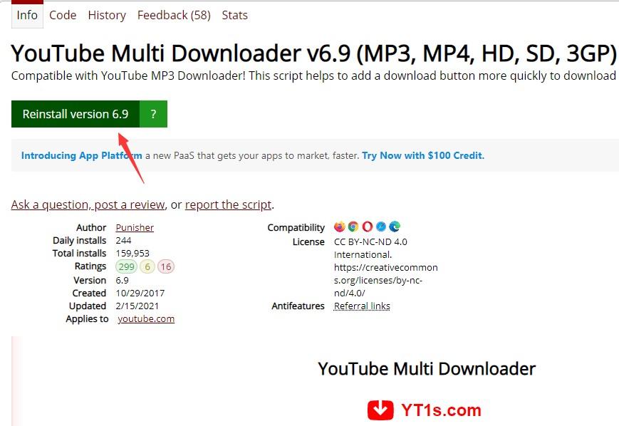 YouTube audio download