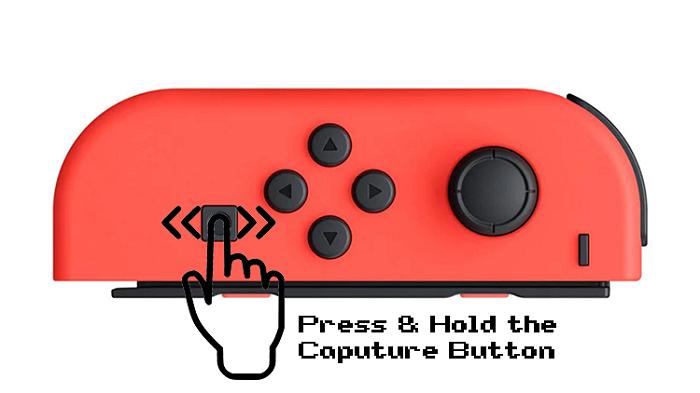 Przytrzymaj przycisk przechwytywania, aby nagrać rozgrywkę na Switchu