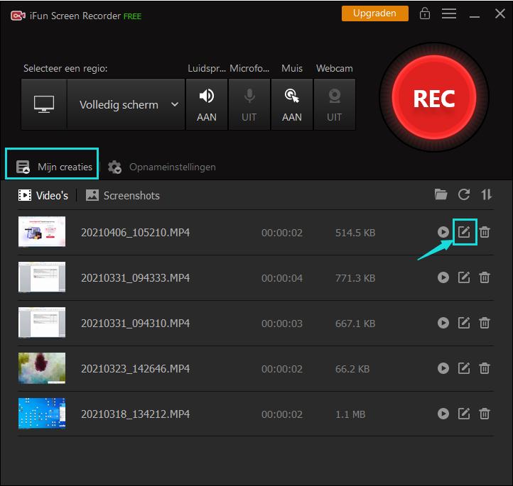 Gratis Scherm Opnemen met Geluid - IObit Screen Recorder Stap 4