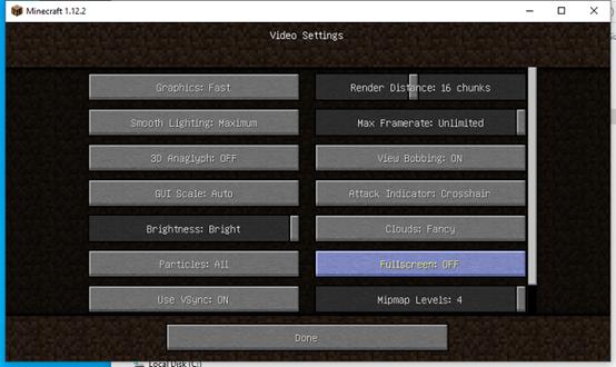 Aufzeichnen des Minecraft-Bildschirm
