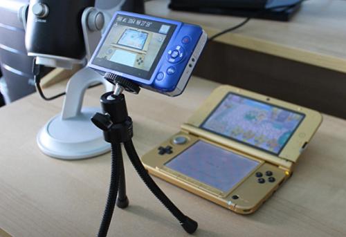Use a câmera para gravar a tela do 3DS
