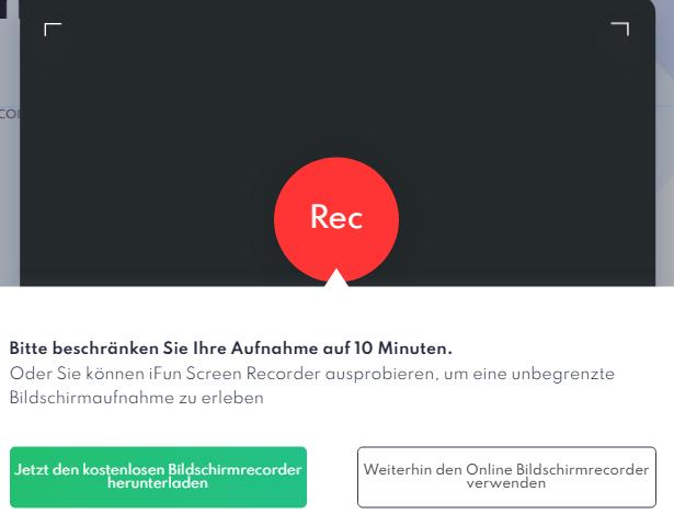 Laptop-Bildschirm online aufnehmen