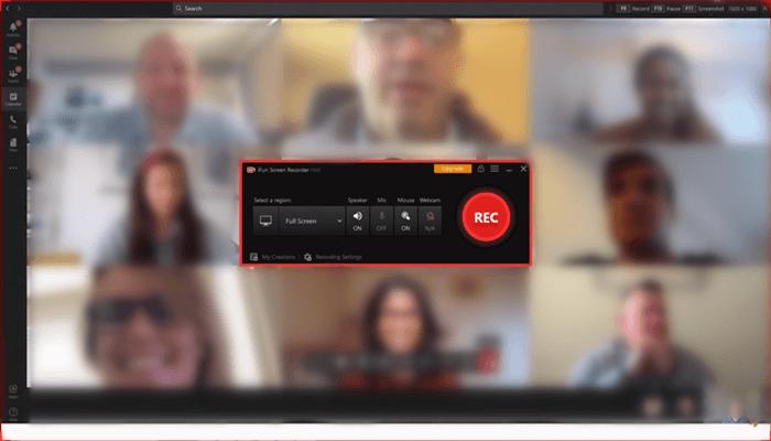 iFun Screen Recorder neemt Teams op