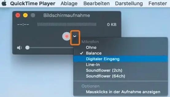 Bildschirm auf Mac