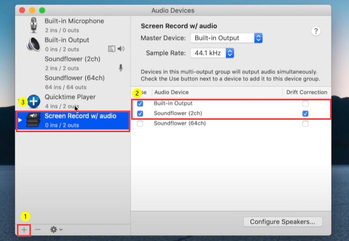 grabar pantalla en Mac con Audio - Paso 3
