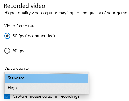 Xbox Game Bar oferuje bardzo ograniczoną opcję nagrywania wideo z gry