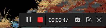 The Status Bar Let You Know the Current Recording Status.