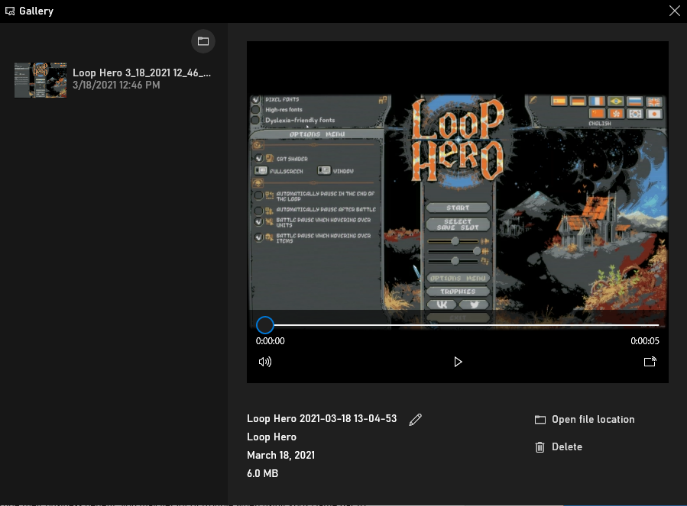 Xbox Game Bar umożliwia zarządzanie nagranymi filmami z gry