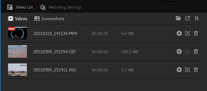 iFun Screen Recorder obsługuje różne nagrywanie wideo z gier