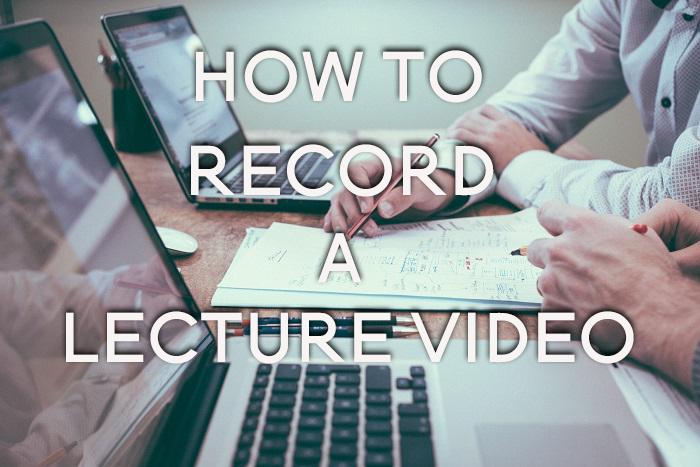 Jak nagrać wykład wideo?