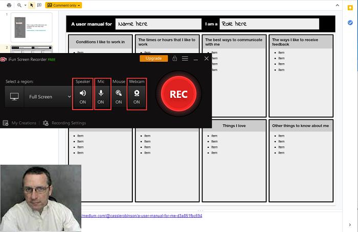Schakel Microfoon en webcam in bij het opnemen van Google Slides