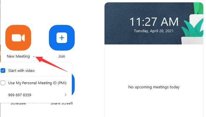 come registrare il tuo schermo con la webcam su Zoom – passo 2