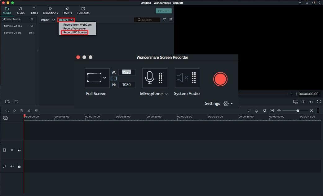 YouTube Audio opnemen met Mac: Filmora Video Editor
