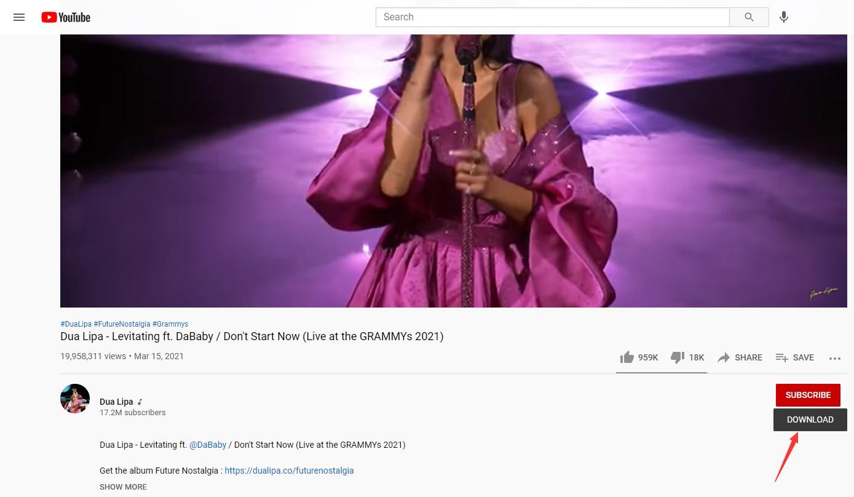 Download YouTube audio met user script