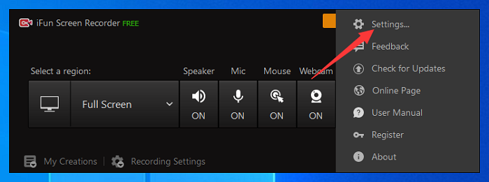 Steps to Set up Gif Recording