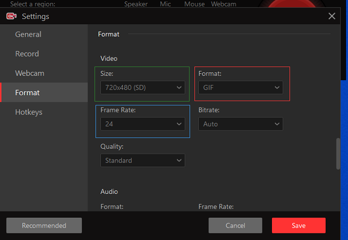 Steps to Record Screen to Gif