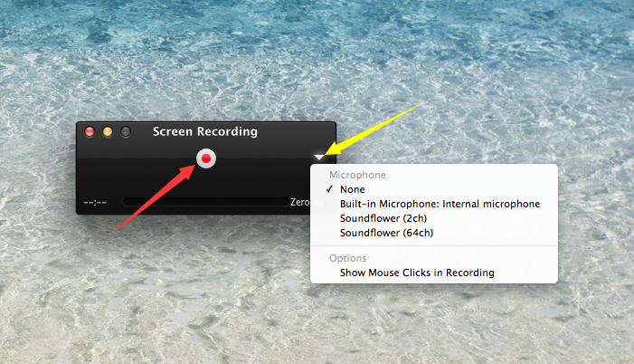 How to Record Your Screen on Mac with QuickTime Player - Step 3