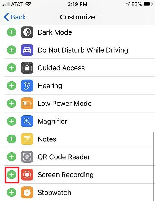 Come registrare facilmente lo schermo su iPhone - Abilita la registrazione dello schermo