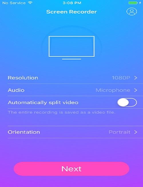 registra facilmente lo schermo su iPhone - avvia la registrazione