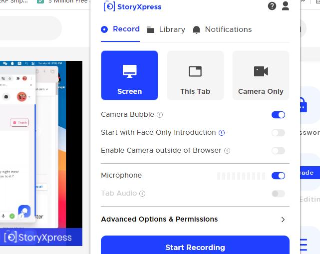 Miglior programma per registrare schermo PC - StoryXpress