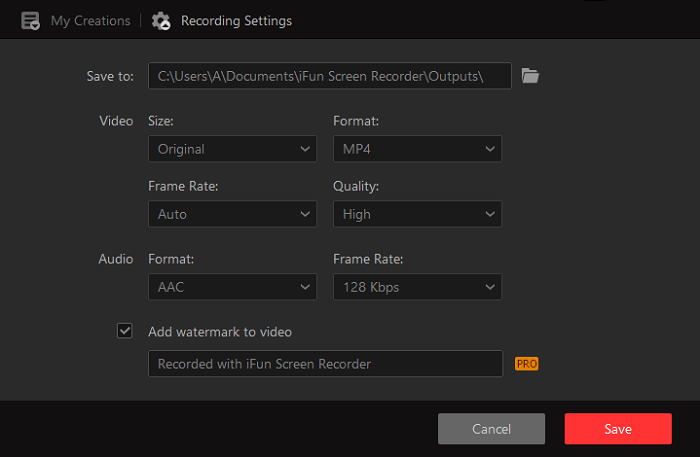 Detailed Setting for Minecraft Recording