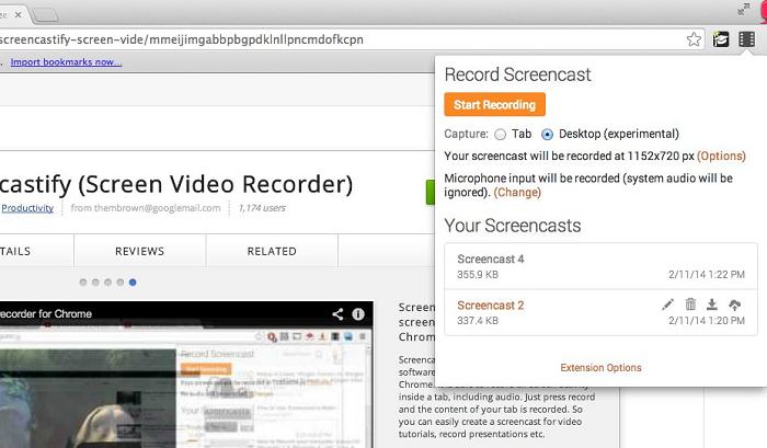 grabar pantalla en chromebook con extensión