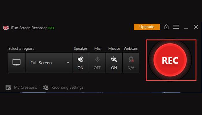 registra un webinar con iFun Screen Recorder - 2° passo