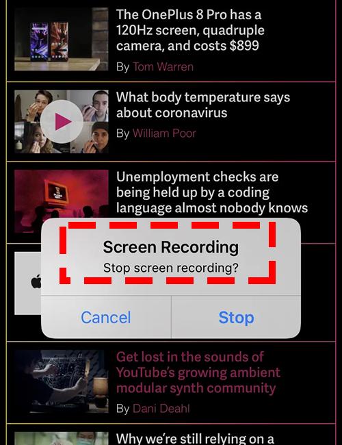 Come registrare il webinar su iPhone - 3° passo