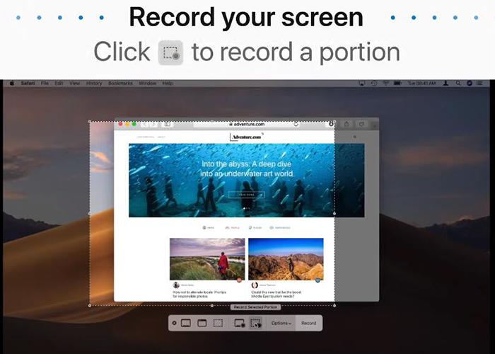 registrare un webinar su Mac