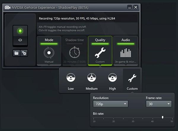 Registra gameplay PC con Nvidia
