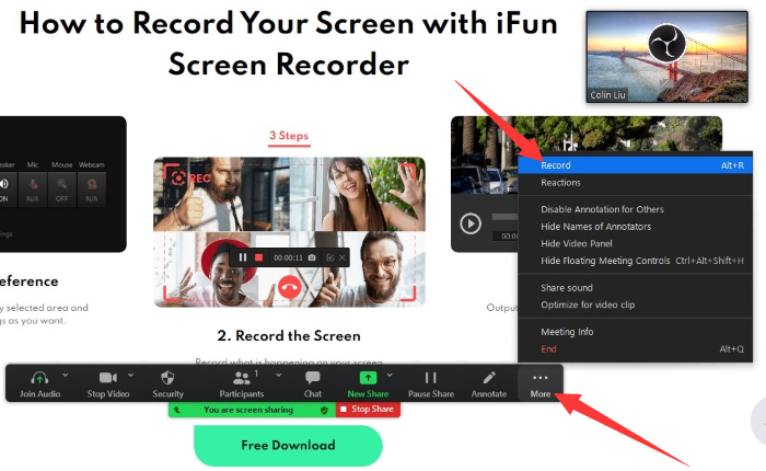 Record Your Screen and Yourself at the Same Time Using Zoom - Step 5