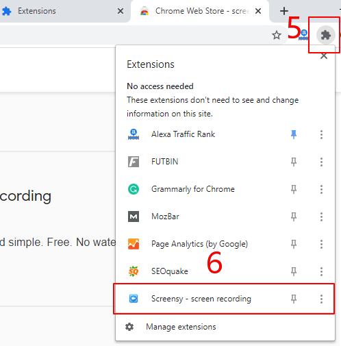 Come usare l'Estensione di Chrome – Passaggio 2
