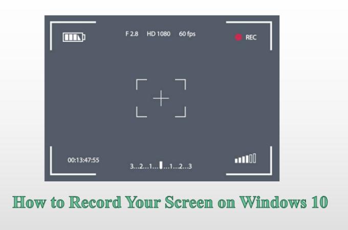 Come registrare lo schermo su Windows 10