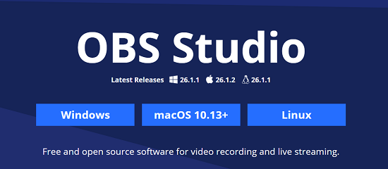 OBS Studio Screen Recording Software