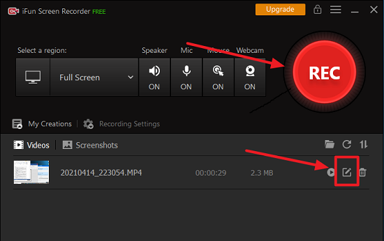 Use iFun Screen Recorder Tool to Record and Edit
