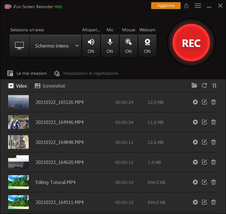 Come usare iFun Screen Recorder per registrare lo schermo con la webcam su Windows 10