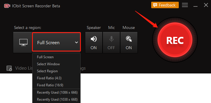 How to Record Netflix on PC - Step 2