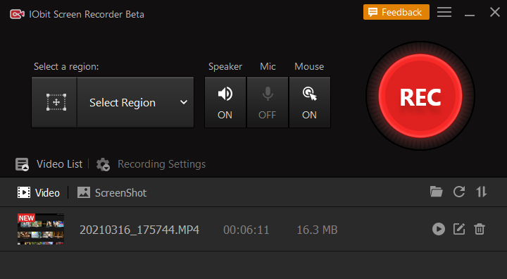 How to Record Netflix on PC - Step 3
