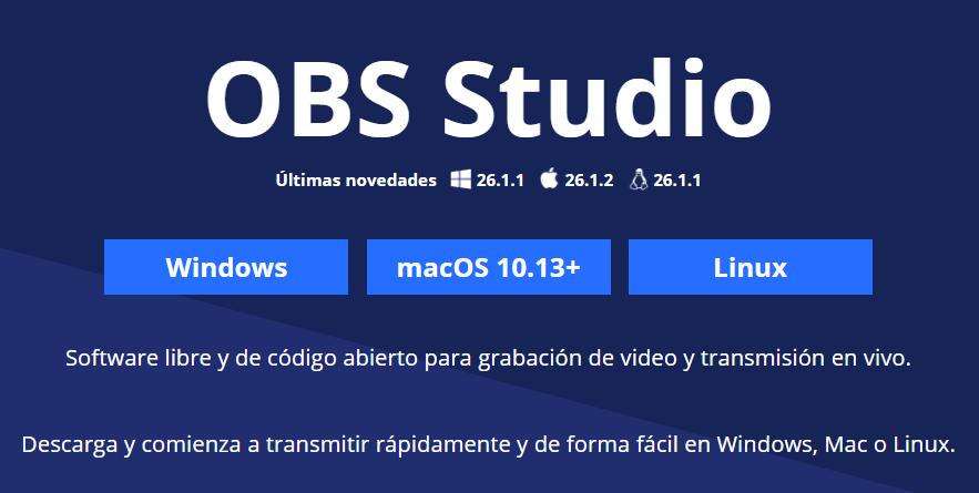 página web de OBS
