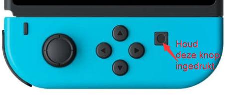 Houd de opnameknop ingedrukt om het spel op Switch op te nemen