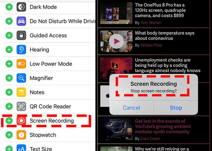 Come registrare Prime Video con lo strumento per Registrazione Schermo in iOS