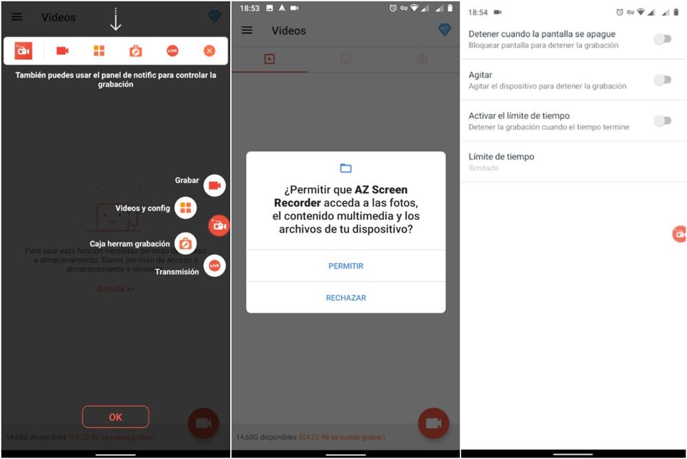 Grabar videollamadas de WhatsApp con AZ Recorder