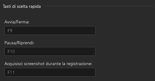 Registrare schermo pc – Passaggio 3